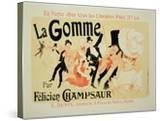 "Reproduction of a Poster Advertising ""La Gomme "" by Felicien Champsaur"
