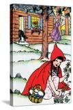 Little Red Riding Hood Picks Flowers