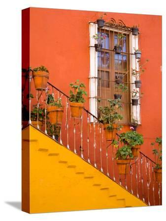 julie-eggers-colorful-stairs-and-house-with-potted-plants-guanajuato-mexico