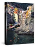 Harbor View of Hillside Town of Riomaggiore  Cinque Terre  Italy