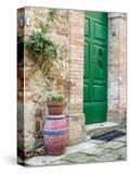 Italy  Tuscany  Monticchiello Bright Green Door