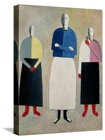 kasimir-malevich-three-little-girls-1928-32