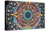 Carved and Painted Aztec Calendar Design
