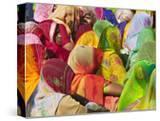 Women in Colorful Saris Gather Together  Jhalawar  Rajasthan  India