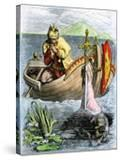 King Arthur Receiving His Magic Sword from the Lady of the Lake