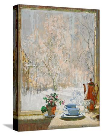 konstantin-ivanovich-gorbatov-through-the-window-in-winter-1945