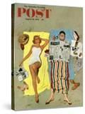 """Sunscreen"" Saturday Evening Post Cover  August 16  1958"