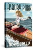 Asbury Park  New Jersey - Pinup Girl Boating