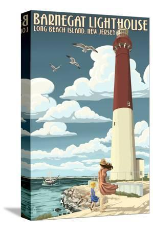 lantern-press-barnegat-lighthouse-new-jersey-shore