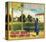 Basketball Orange Label - Claremont  CA