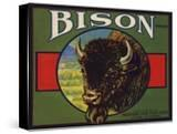 Bison Brand - Upland  California - Citrus Crate Label