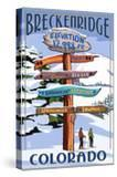 Breckenridge  Colorado - Ski Run Signpost