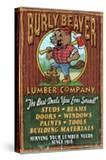 Burly Beaver Lumber - Vintage Sign