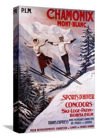 lantern-press-chamonix-mont-blanc-france-skiing-promotional-poster