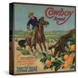 Cowboy Brand - Tustin  California - Citrus Crate Label