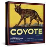 Coyote Brand - Upland  California - Citrus Crate Label