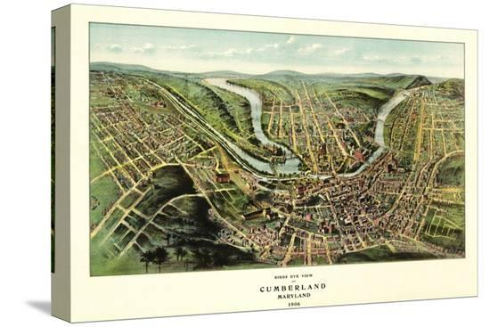 lantern-press-cumberland-maryland-panoramic-map