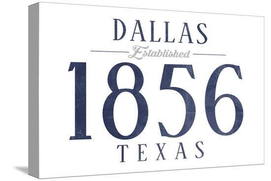 lantern-press-dallas-texas-established-date-blue