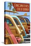 Encinitas  California - Woodies Lined Up