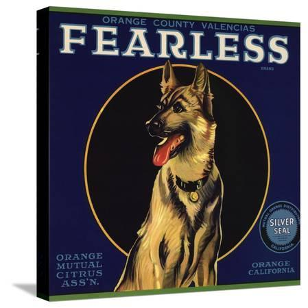 lantern-press-fearless-brand-orange-california-citrus-crate-label