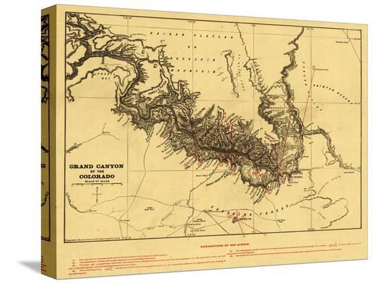 lantern-press-grand-canyon-of-colorado-river-panoramic-map