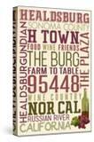 Healdsburg  California - Typography