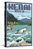 Kenai River  Alaska - Salmon Fisherman