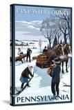 Lancaster County  Pennsylvania - Firewood Winter Scene