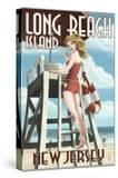 Long Beach Island  New Jersey - Lifeguard Pinup Girl