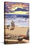 Manhattan Beach  California - Sunset Beach Scene