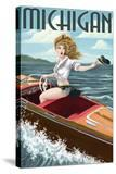 Michigan - Pinup Girl Boating