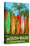 Mission Beach  California - Surfboard Fence