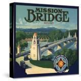 Mission Bridge Brand - Riverside  California - Citrus Crate Label