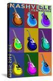 Nashville  Tennessee - Guitar Pop Art