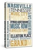 Nashville  Tennessee - Typography