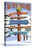 New England - Ski Areas Sign Destinations