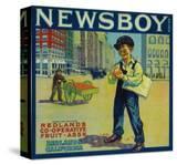 Newsboy Orange Label - Redlands  CA