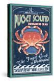 Puget Sound  Washington - Dungeness Crab Vintage Sign