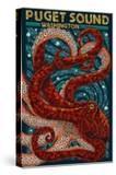Puget Sound  Washington - Octopus Mosaic