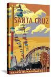 Santa Cruz  California - Beach Boardwalk