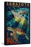 Sarasota  Florida - Sea Turtle Paper Mosaic