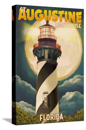 lantern-press-st-augustine-florida-lighthouse-and-moon