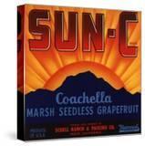 Sun C Brand - Indio  California - Citrus Crate Label