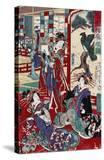 The Complete Views of Competing Brothel Houses  Japanese Wood-Cut Print