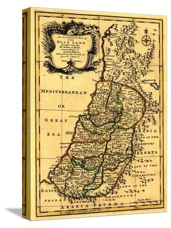 lantern-press-the-tribes-of-israel-in-palestine-panoramic-map