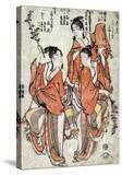 Third Month: Going to a Sumo Match  Fourth Month: Buddha's Birthday  Japanese Wood-Cut Print