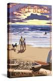 Venice Beach  California - Sunset Beach Scene