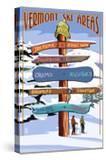 Vermont - Ski Areas Sign Destinations