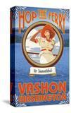 Woman Riding Ferry  Vashon Island  Washington