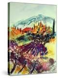 Watercolor Provence Landscape 080507